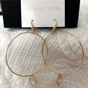 Michael Kors Gold tone drop hoops